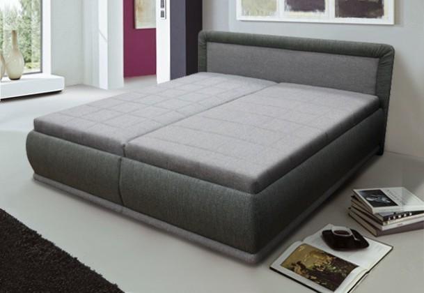Čalouněná Čalouněná postel Harmonie 180x200 cm, šedá, s úložným prostorem