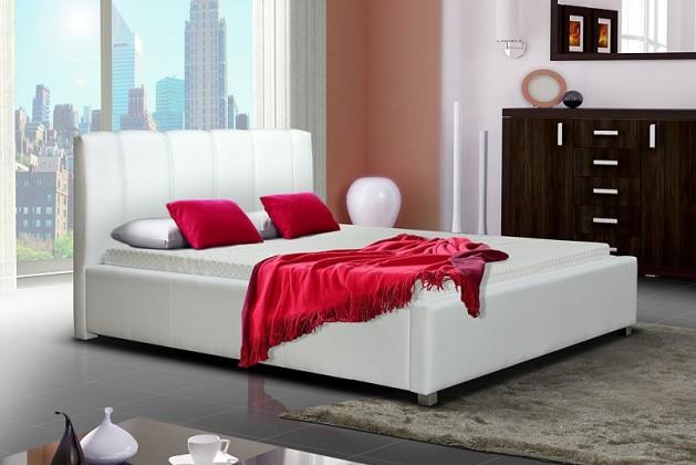 Čalouněná Čalouněná postel I, 200 cm, bílá