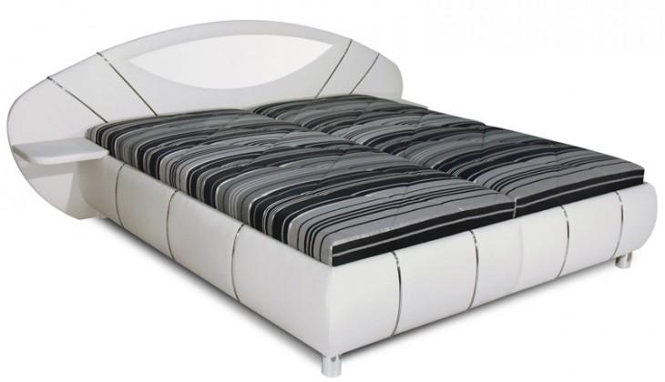 Čalouněná Čalouněná postel Jupiter 180x200 cm, bílá, šedá,s úložným prost.