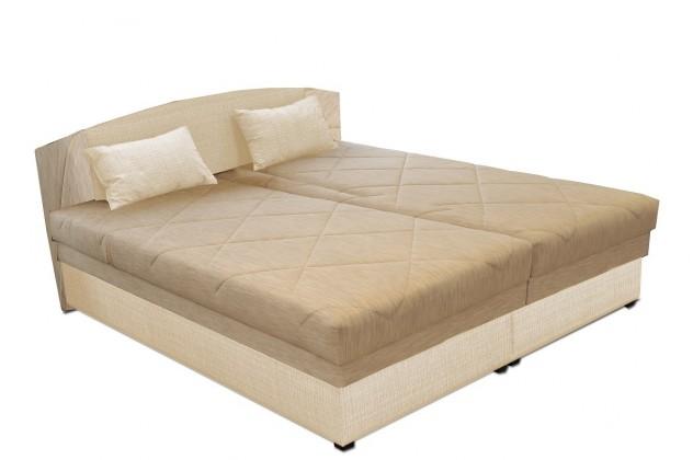 Čalouněná Čalouněná postel Kappa 180x200 cm, béžová, s úložným prostorem