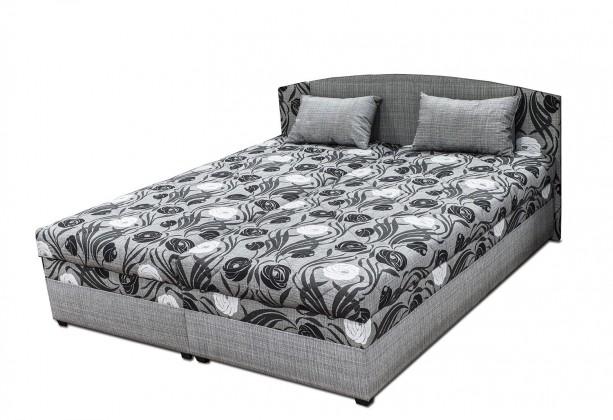 Čalouněná Čalouněná postel Kappa 180x200 cm, šedá, s úložným prostorem