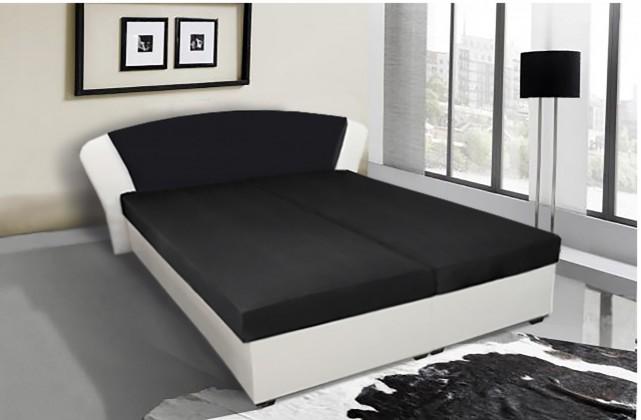 Čalouněná Čalouněná postel Kula 170x195 cm, černá,bílá,s úložným prostorem