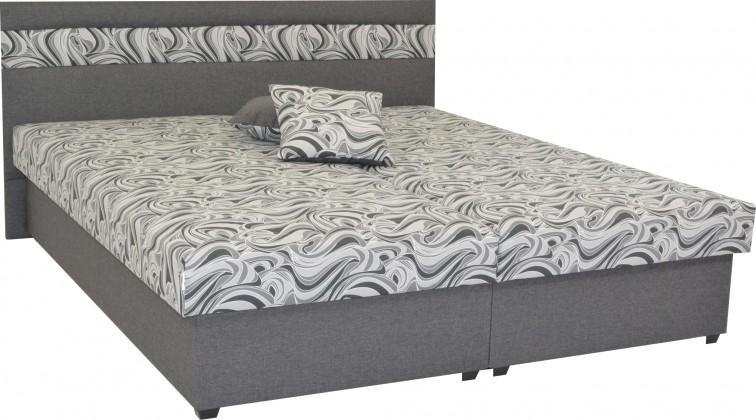 Čalouněná Čalouněná postel Mexico 160x200, šedá, včetně úp