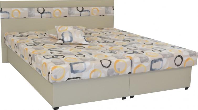 Čalouněná Čalouněná postel Mexico 180x200, béžová, včetně úp