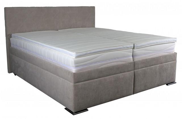 Čalouněná Čalouněná postel Rory 180x200, šedá, vč. matrace, roštu a úp