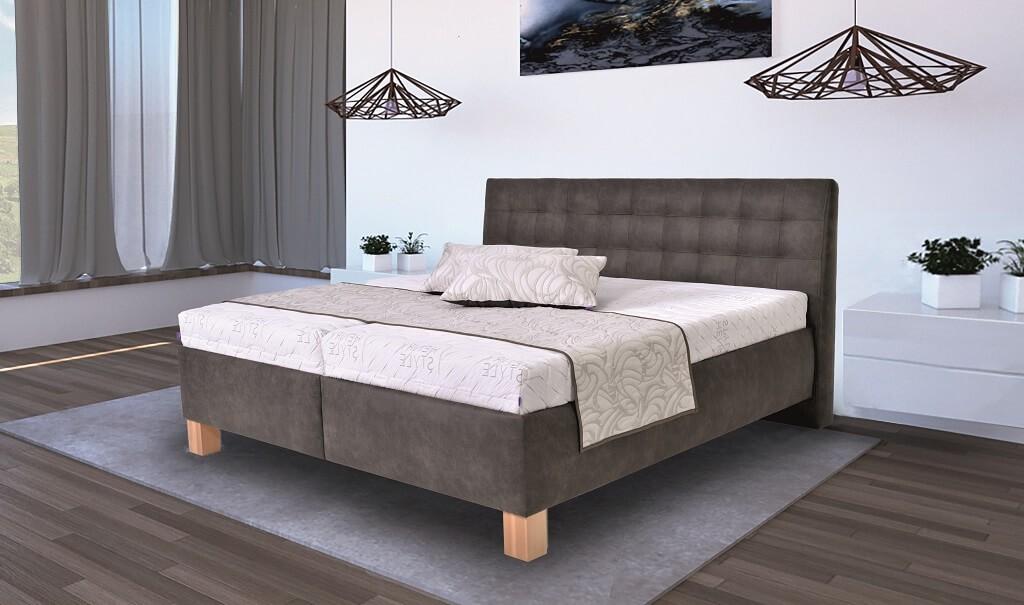 Čalouněná Čalouněná postel Victoria 160x200 vč. matrace, pol. roštu a ÚP