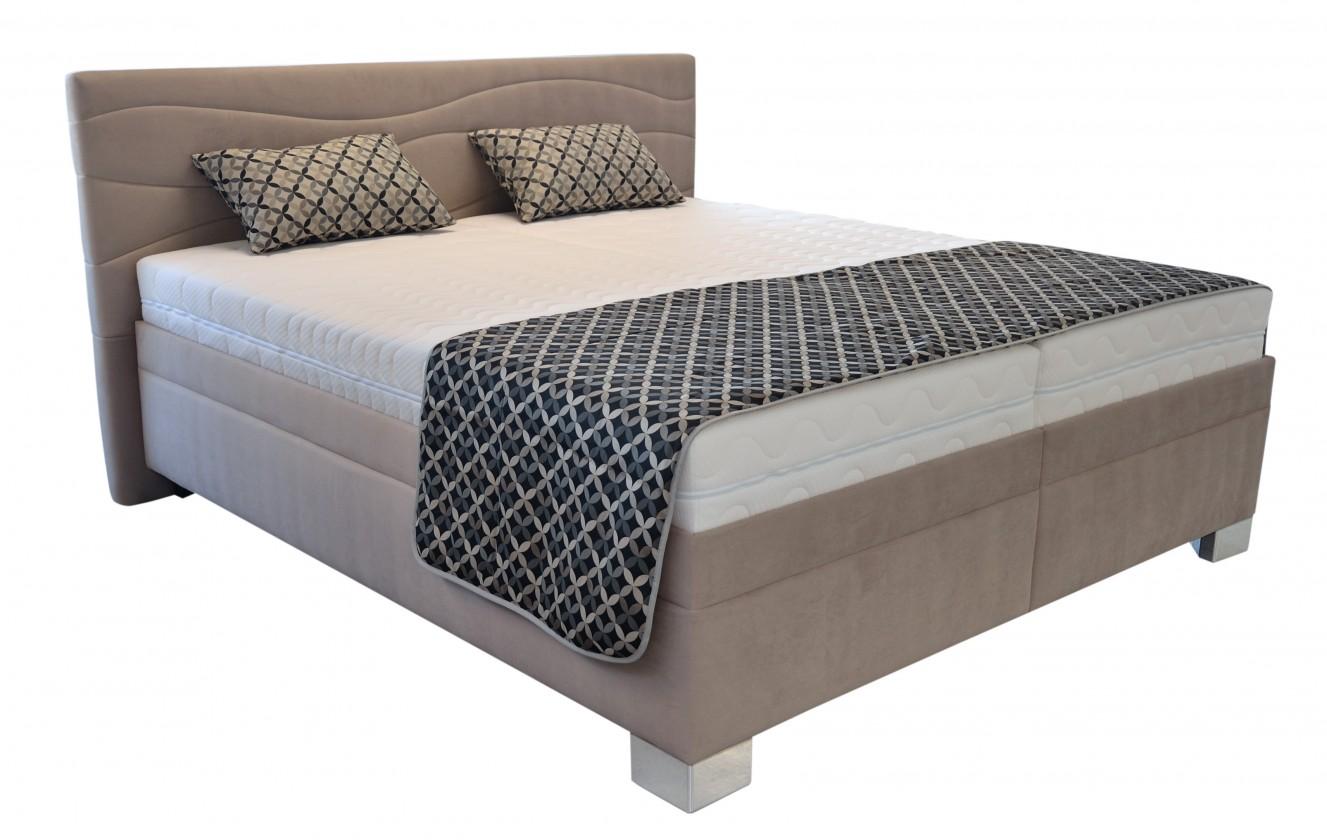 Čalouněná Čalouněná postel Windsor 200x200, vč. poloh. roštu, matrace a úp