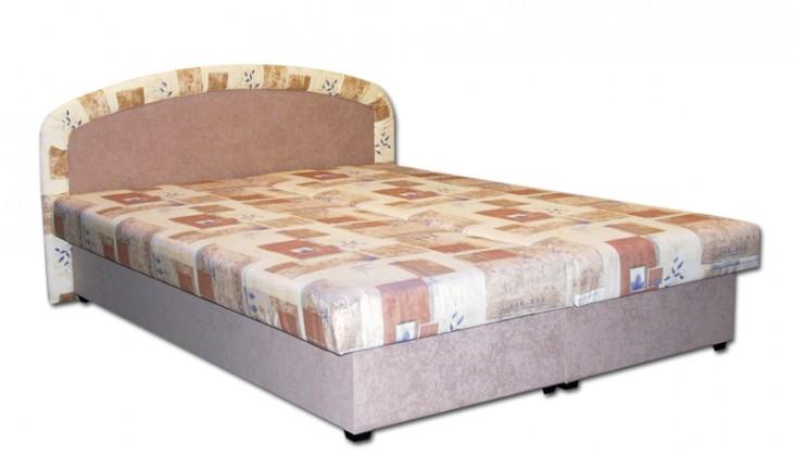 Čalouněná Čalouněná postel Zofie 160x200 cm, béžová, s úložným prostorem