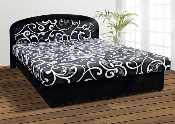 Čalouněná Čalouněná postel Zofie 160x200 cm, černá, s úložným prostorem