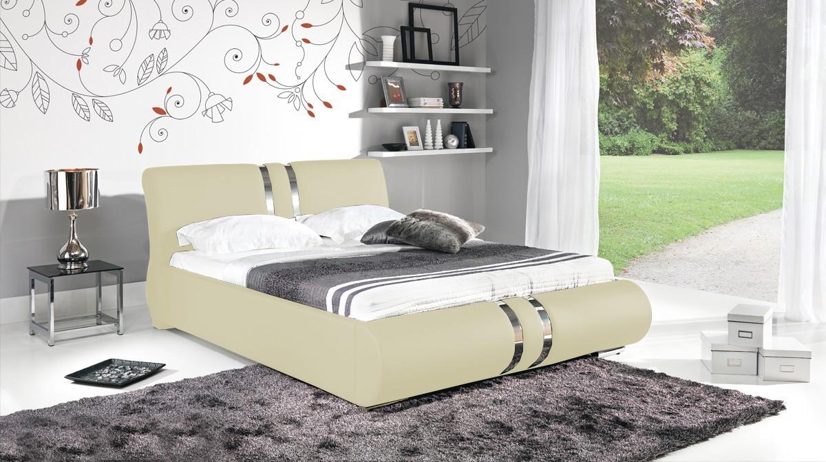 Čalouněná Combi - Rám postele 200x180, s roštem a úložným prostorem