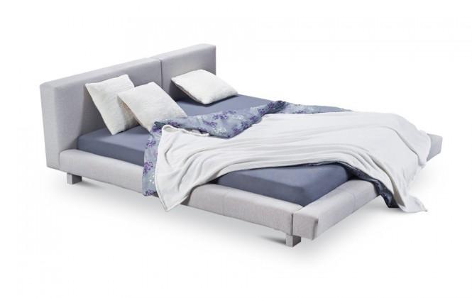 Čalouněná Cubito - rám postele, rošt, 1x matrace (200x140)