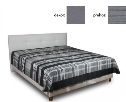 Čalouněná Delores 180x200(matheo 4 - šedá ekokůže,Stylo)
