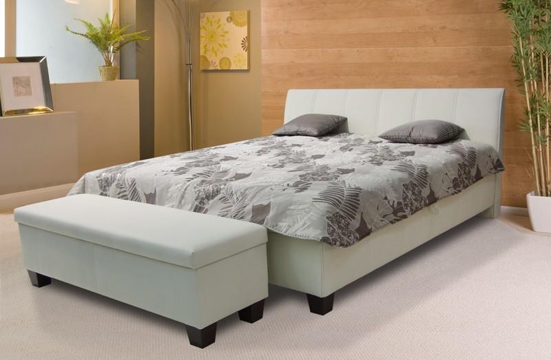 Čalouněná Exima 2 - postel 200x160, úložný prostor, výklopný rošt