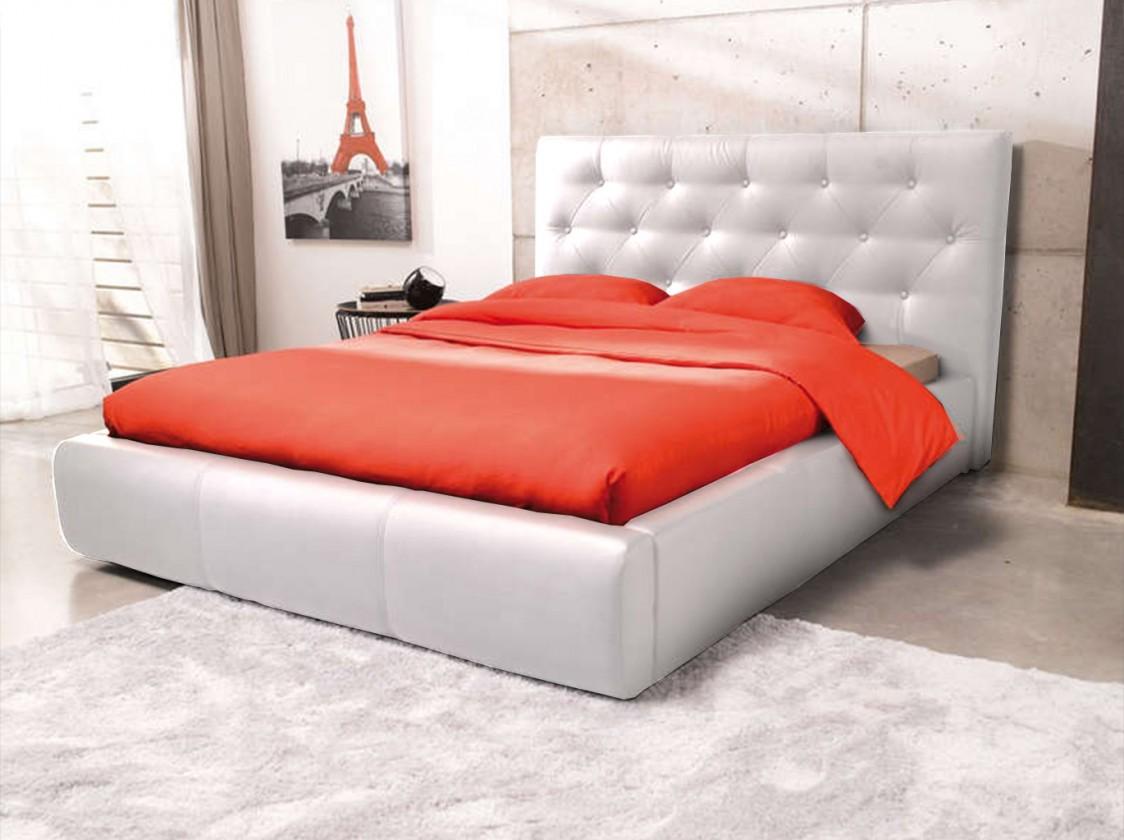 Čalouněná Jasmine - rám postele 200x140 (eko kůže)