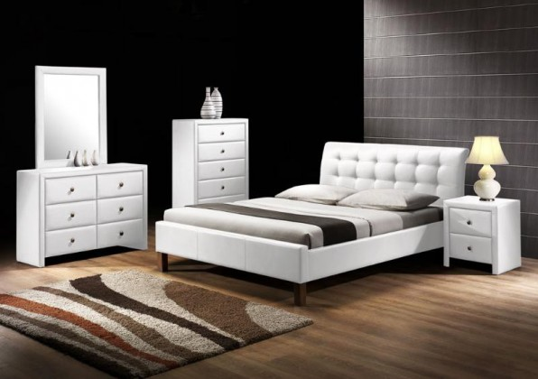 Čalouněná Kirsty - Postel 200x160, rám postele, rošt (bílá)