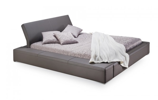 Čalouněná Matteo - rám postele, rošt, matrace (soft 024)