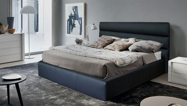 Čalouněná Nancy - rám postele 200x160 (eko kůže)