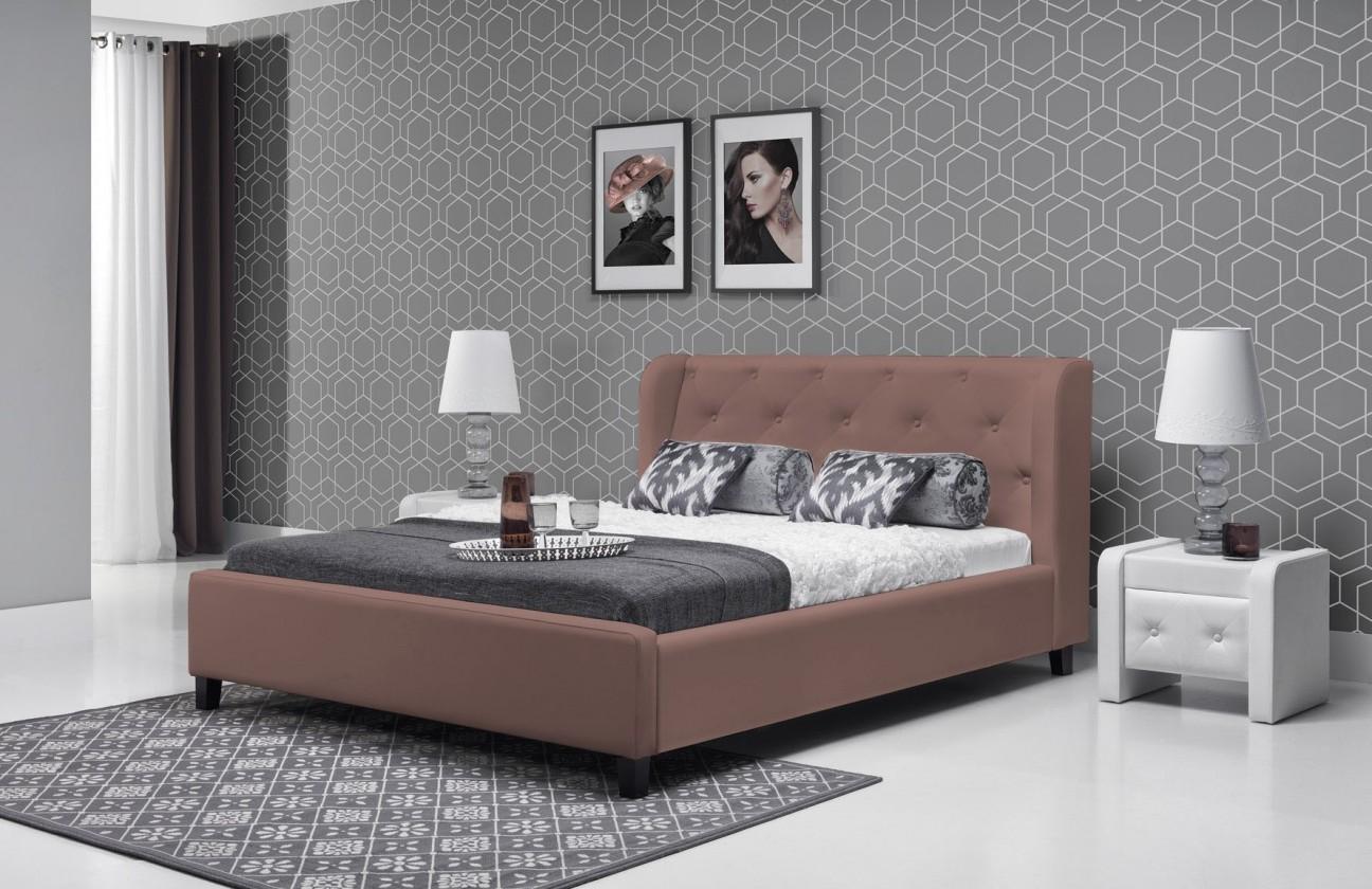 Čalouněná Parys - Rám postele 200x140 (eko skay tiguan 103)