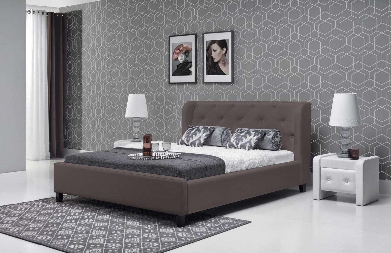Čalouněná Parys - Rám postele 200x140 (eko skay tiguan 108)