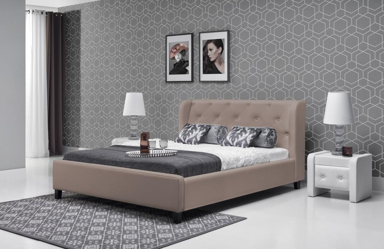 Čalouněná Parys - Rám postele 200x180 (eko skay cayenne 6)
