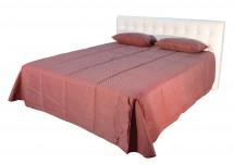 Čalouněná postel Anita 180x200 cm, bílá, s úložným prostorem