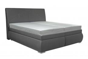 Čalouněná postel Arte 180x200 cm, šedá, s úložným prostorem