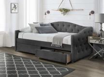 Čalouněná postel Belle 90x200, šedá, včetně roštu a ÚP