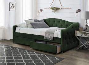 Čalouněná postel Belle 90x200, zelená, včetně roštu a ÚP