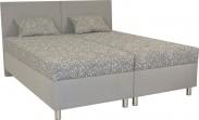 Čalouněná postel Colorado 160x200 cm, šedá, s úložným prostorem