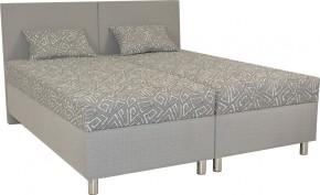 Čalouněná postel Colorado 160x200, šedá, vč. matrace a úp + dárek 2 polštáře