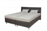 Čalouněná postel Colorado 180x200 cm, šedá, s úložným prostorem