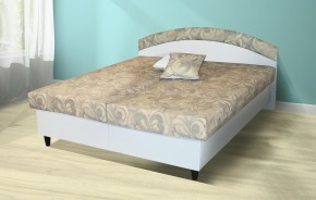 Čalouněná postel Corveta 180x200 cm, hnědá, s úložným prostorem