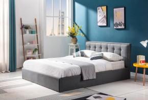 Čalouněná postel Denholm 160x200, šedá, včetně roštu a ÚP