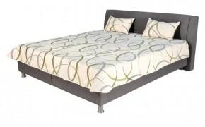 Čalouněná postel Discovery 160x200, šedá, vč. poloh. roštu a úp