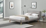 Čalouněná postel Elanda 140x200, světle šedá, bez matrace a úp