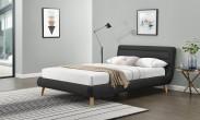 Čalouněná postel Elanda 160x200, tmavě šedá, bez matrace a úp