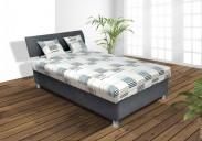 Čalouněná postel George 120x200 cm, šedá, s úložným prostorem