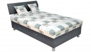 Čalouněná postel George 120x200, šedá, vč. matrace a úp