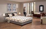 Čalouněná postel George 140x200 cm, hnědá, s úložným prostorem