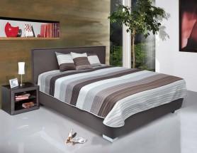 Čalouněná postel Grand 180x200 cm, hnědá, s úložným prostorem