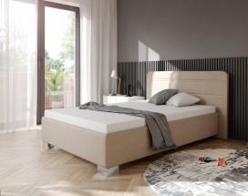 Čalouněná postel Hamilton 140x200, béžová, vč. mat.,pol.roštu,ÚP