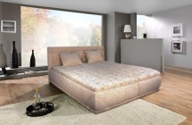 Čalouněná postel Harmonie 160x200,béžová,vč. matrace,roštu a úp