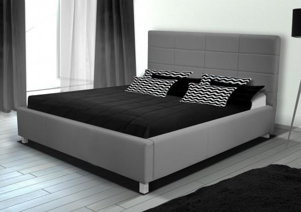 Čalouněná Postel IX - 140x200, rošt, úložný prostor (eko kůže)