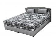 Čalouněná postel Kappa 180x200 cm, šedá, s úložným prostorem