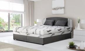 Čalouněná postel Kappa 180x200, šedá, vč. matrace, roštu a ÚP