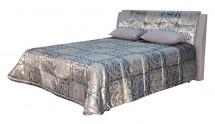 Čalouněná postel King 180x200 cm, šedá, s úložným prostorem