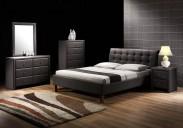 Čalouněná postel Kirsty - 160x200, rám, rošt (černá)