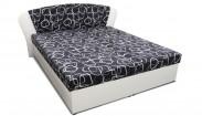 Čalouněná postel Kula 4, 170x200, černá, bílá, vč. matrace a úp