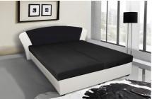 Čalouněná postel Kula - (bílá, černá mura 100)