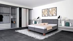 Čalouněná postel Mary 160x200 vč. matrace, topperu a ÚP